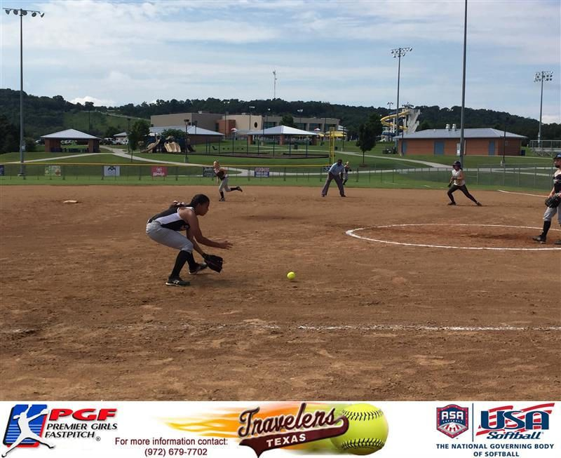 Madison McClarity making a play at 3rd during. National