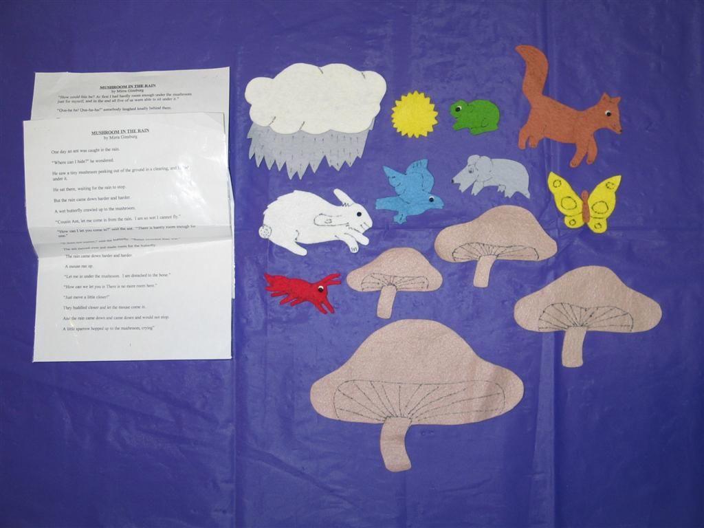 Mushroom In The Rain Felt Book Story