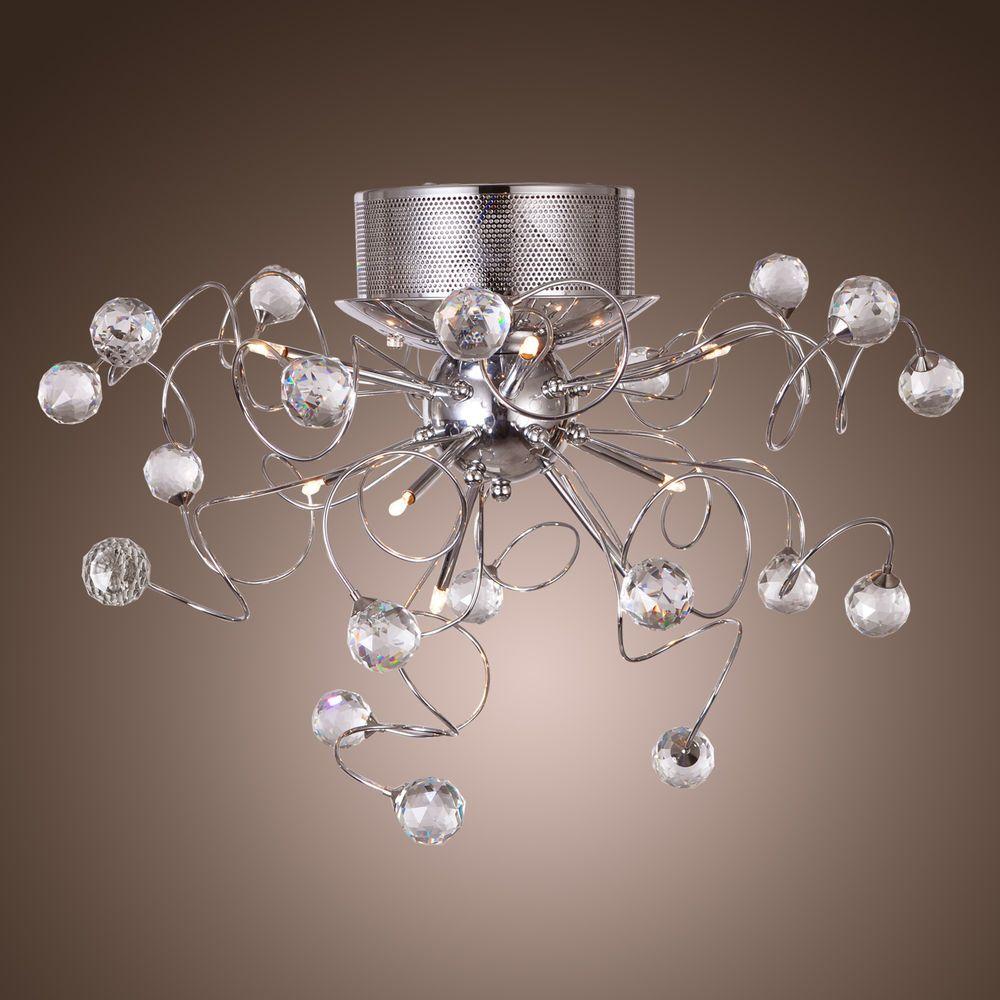 Crystal Modern Design Chandeliers Living 9 Lights Pendant