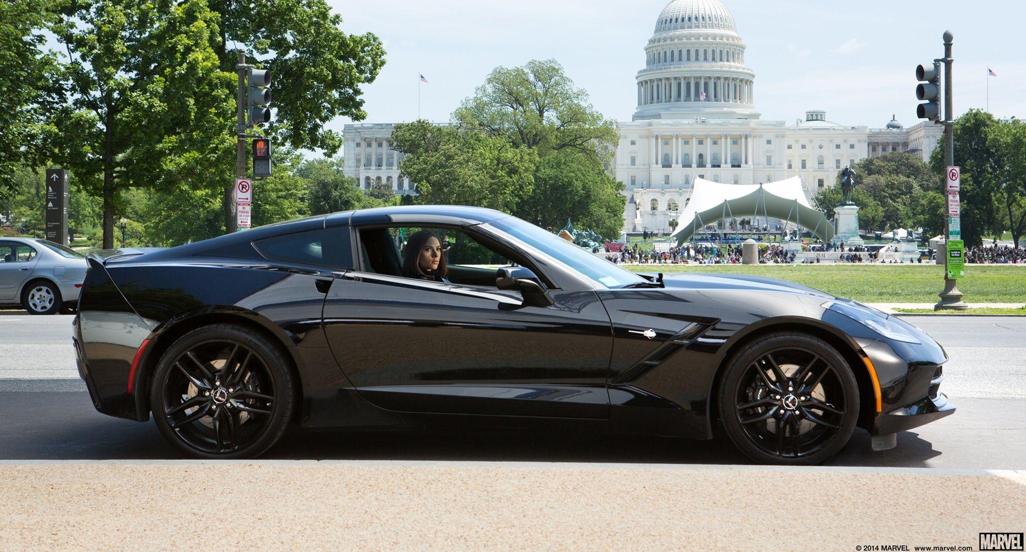 Chevrolet corvette stingray c7 2014 driven by scarlett johansson in captain america the