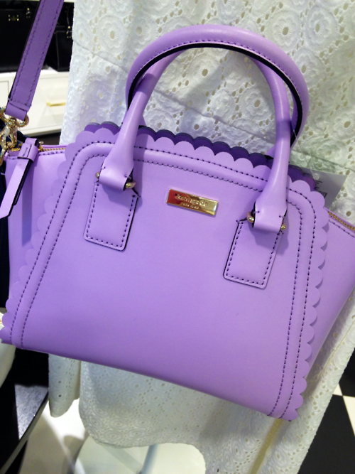 f254760bff4f NWT Kate Spade Small Marguerite Lilac Road handbag