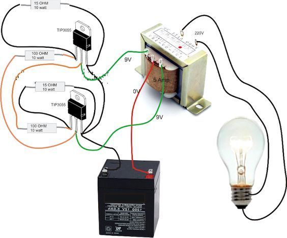 How To Make A Inverter Circuit Diagram | Simple Inverter Circuit Diagram Electrical Blog Hobbies