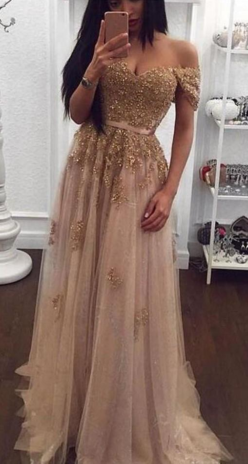 Beaded Arabic Evening Dresses Sweetheart A-line Tulle | Amazing ...