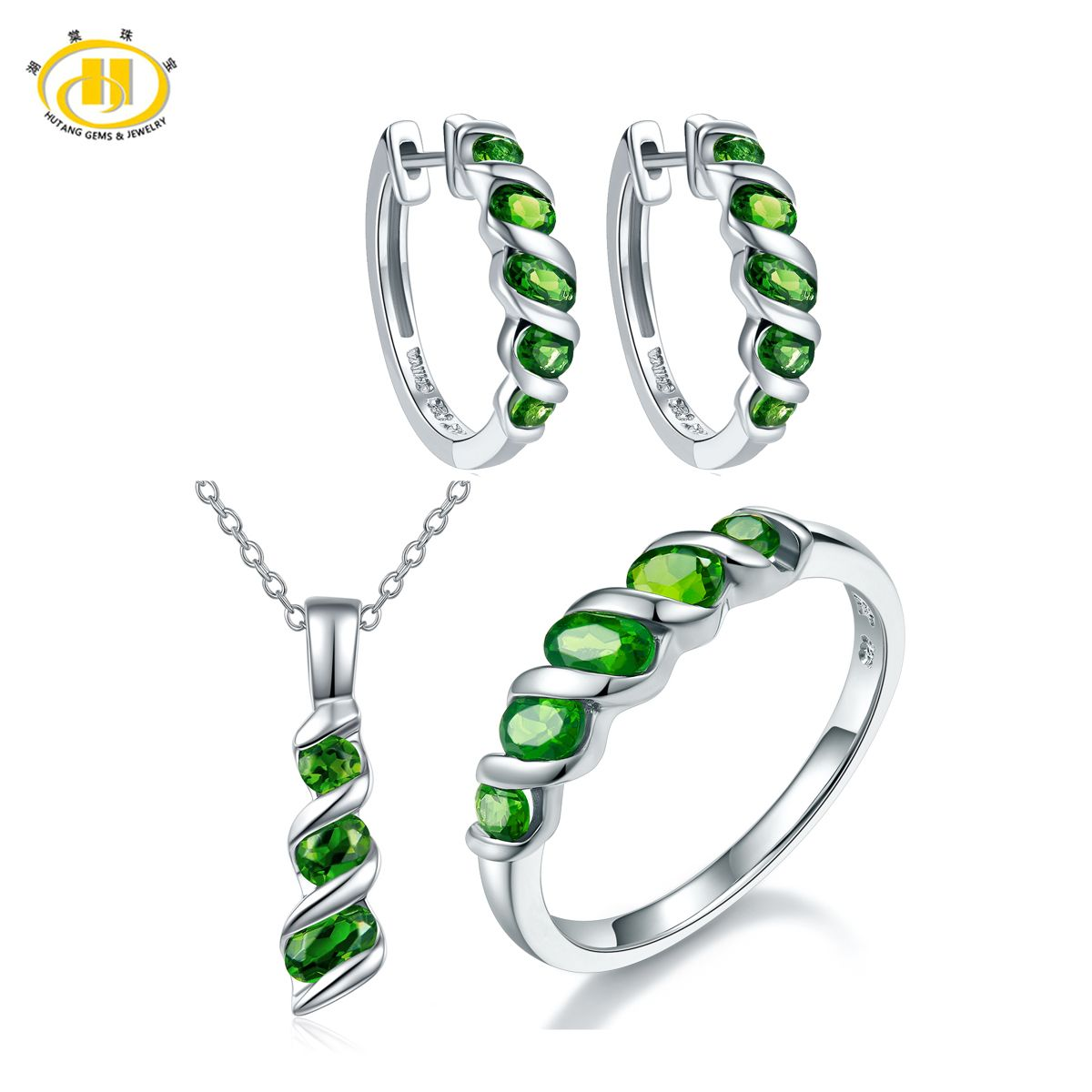Click to buy hutang russian chrome diopside jewelry sets for click to buy hutang russian chrome diopside jewelry sets for women solid aloadofball Image collections