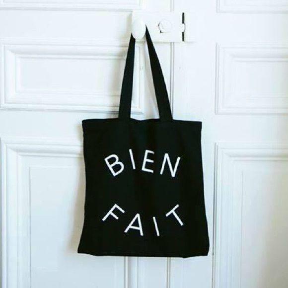 Madewell Bien Fait Tote Black Canvas Madewell Bien Fait tote! Hasn't been used! Madewell Bags Totes