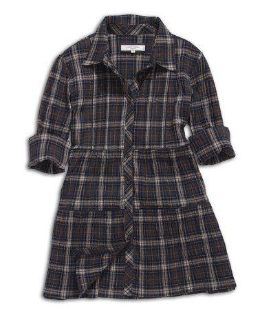 109b057ef744 Look what I found on  zulily! Black   Coffee Shirt Dress ...