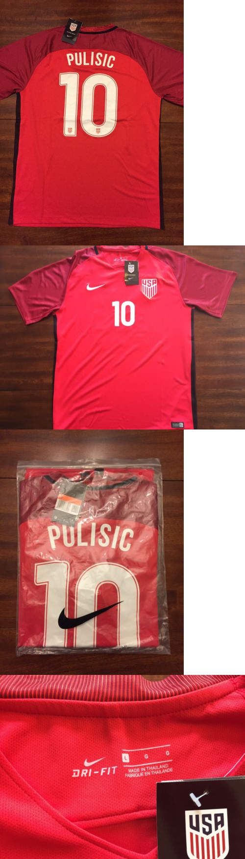 51a53f449 Soccer-National Teams 2891  Usmnt Red Usa Jersey Christian Pulisic Nike  10  Adult
