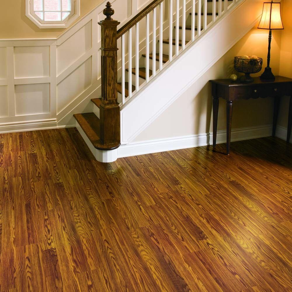 Gunstock Oak Floors And Stair Treads With White Spindles