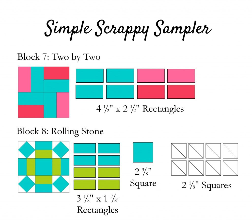 Simple Scrappy Sampler 7-8