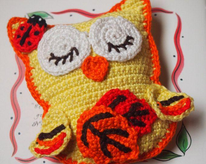 Crochet owl pattern, crochet pattern Autumn Owl, crochet owl ...