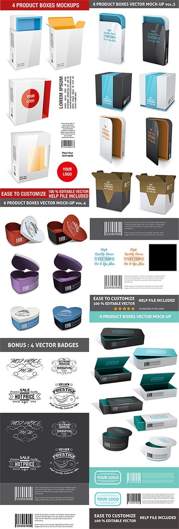 Download 20 Realistic Product Packaging Mockup Template Psd Free Packaging Mockup Mockup Psd Design Freebie