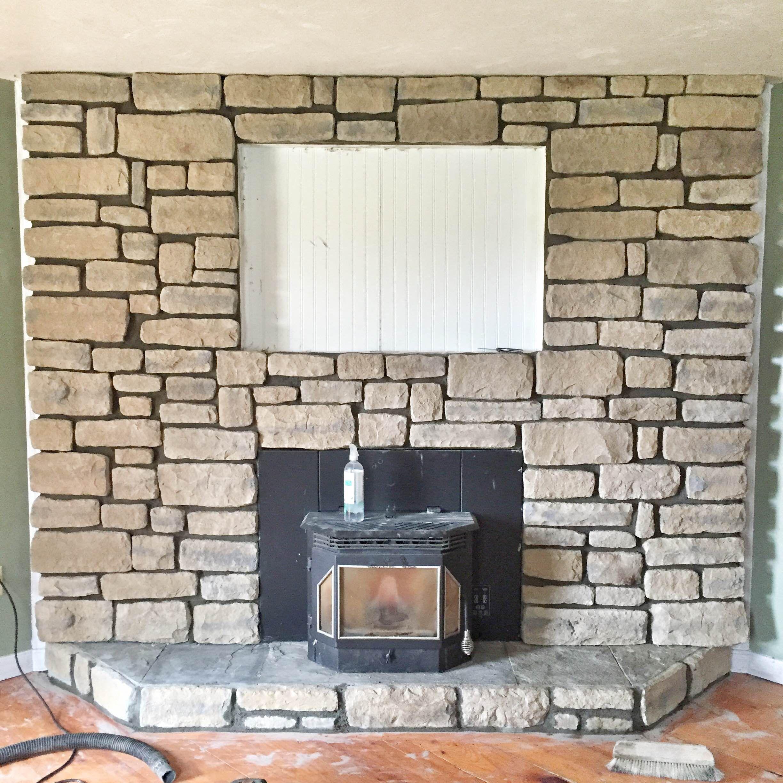 Our brick fireplace makeover brick fireplace makeover brick