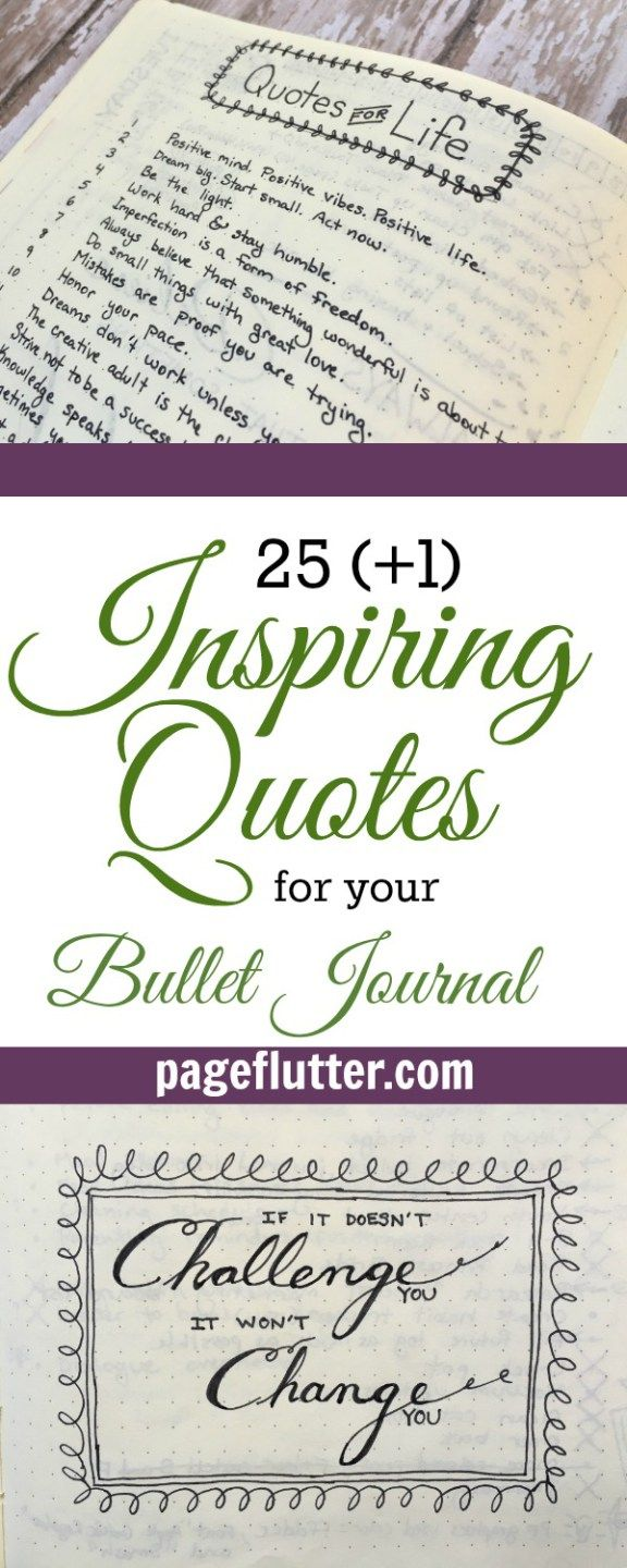 Quotes Journal 25 1 Inspiring Quotes For Your Bullet Journal  Bullet Journal