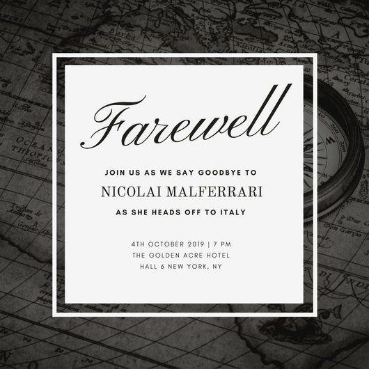 Image result for employee goodbye instagram Invitations Pinterest - farewell invitation template