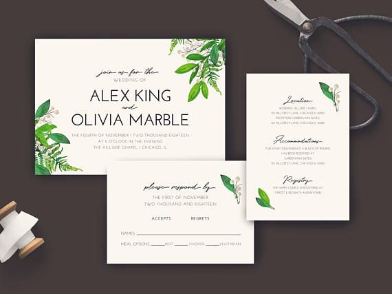 Pea Jay Creative Printable Fl Modern Wedding Invitation 2 Details This Is The Perfect Way To Invite Your Guests