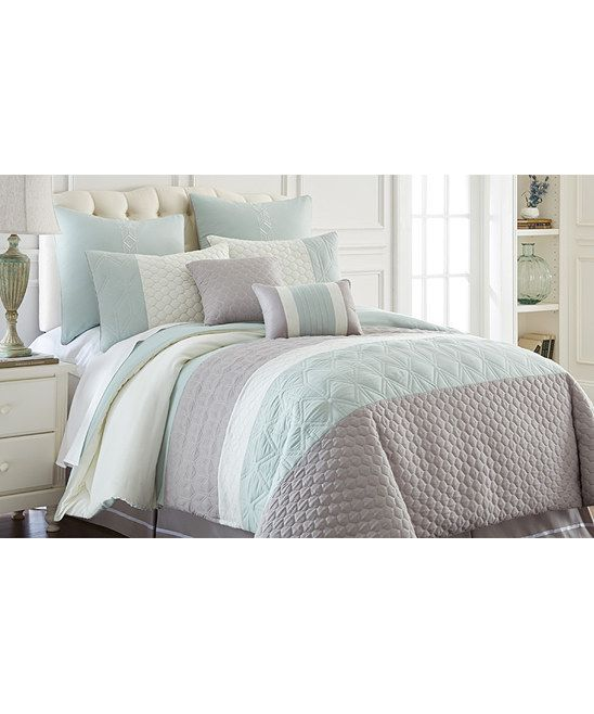 Colonial Home Textiles Gray Palisades Comforter Set Zulily