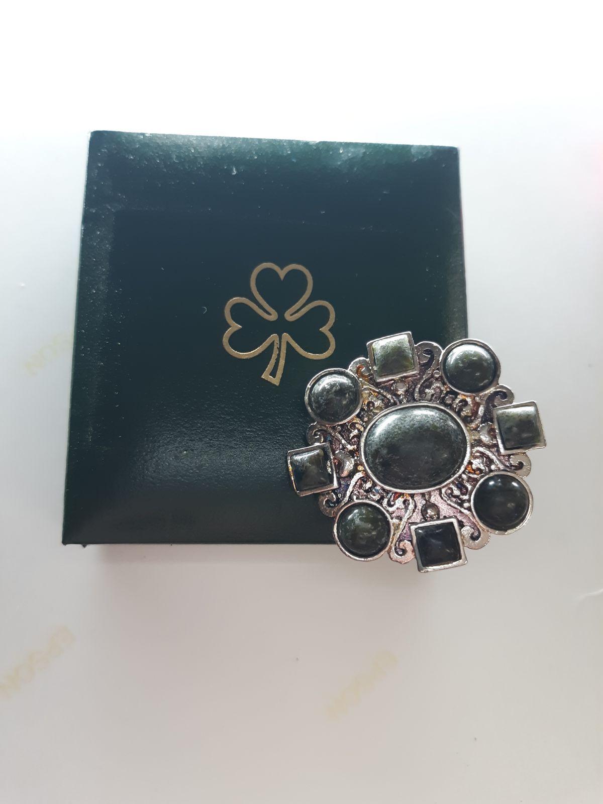Beautiful Connemara Marble Irish Hallmarked Sterling Silver Cufflinks