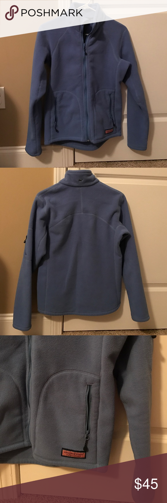 Vineyard vines womenus zip up fleece jacket vineyard vines zip