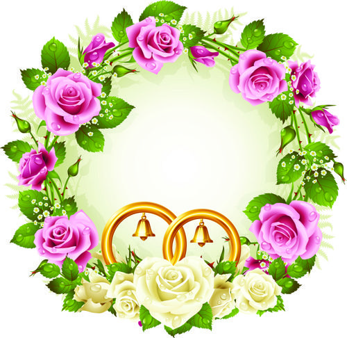 Flowers wreath design vector 05 pinterest flower altavistaventures Images