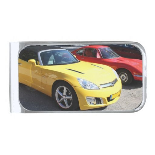 Opel GT Classic Sports Cars Silver Finish Money Clip