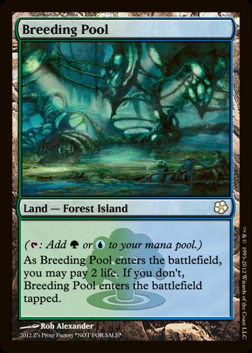 1 FOIL Breeding Pool Land Gatecrash Mtg Magic Rare 1x x1 Magic: The Gathering, MTG)