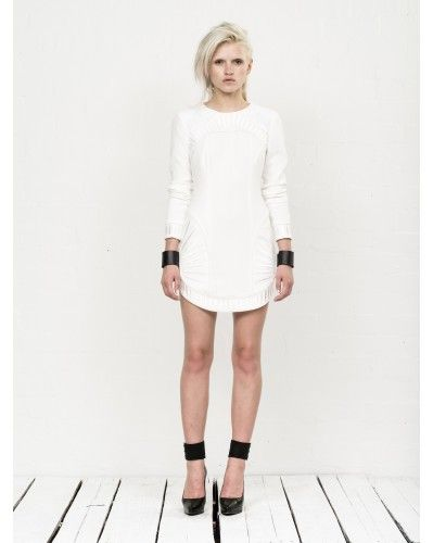 PALM DRESS IN IVORY by Bless'ed Are The Meek
