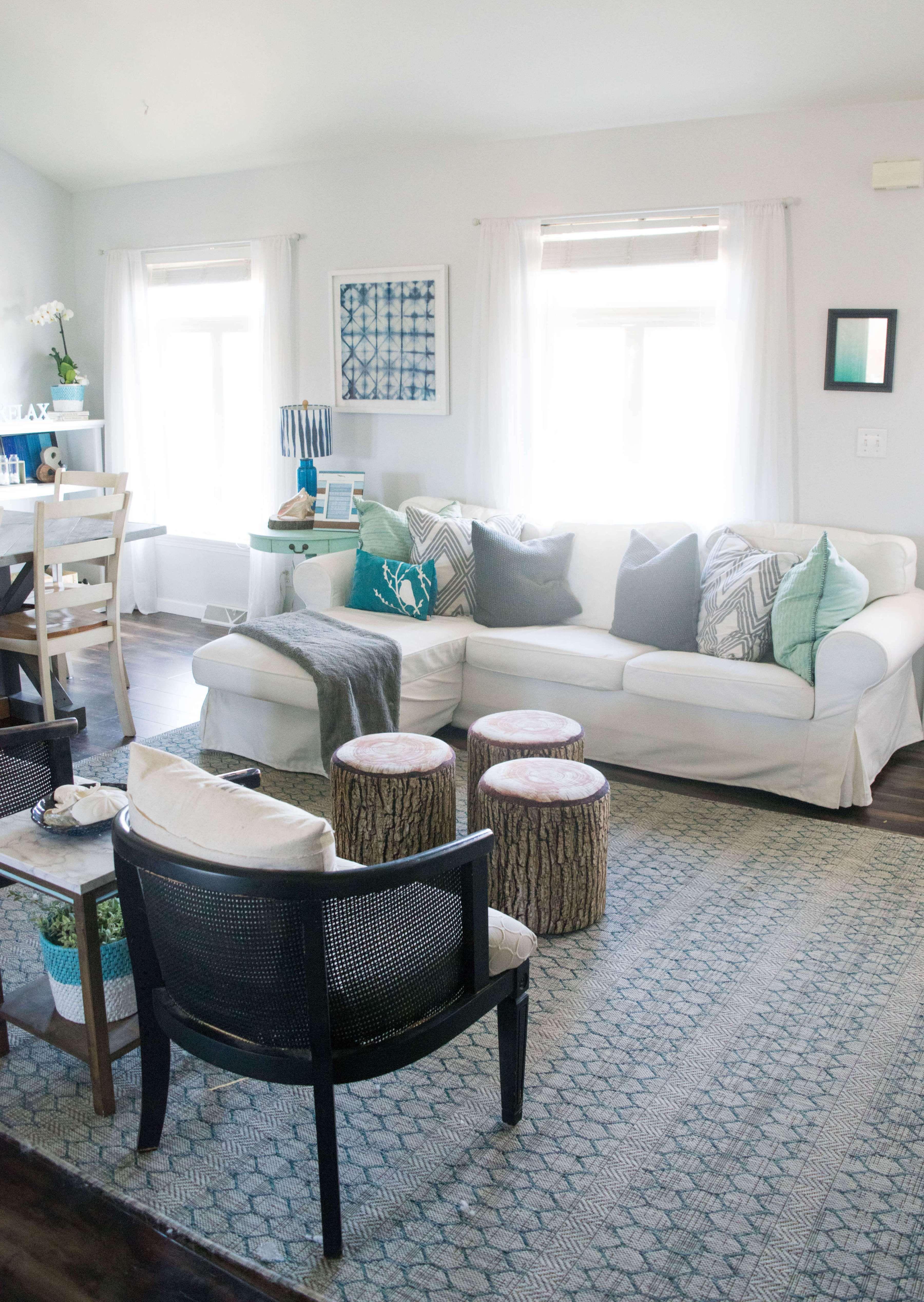 Bright Living Room. Spring Home Tour, 20 Popular Home