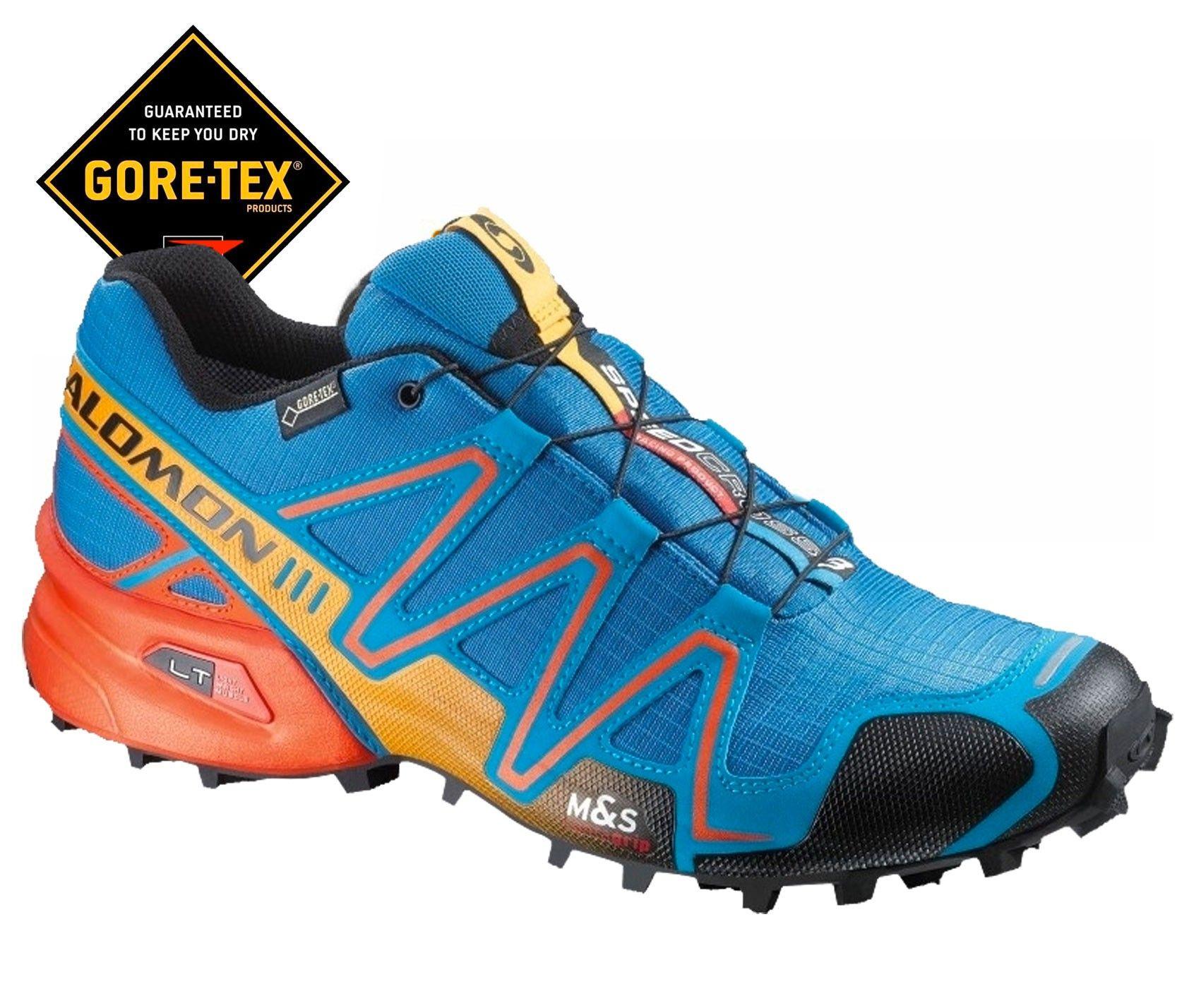 Salomon Speedcross 3 Gtx Azul Naranja Zapatillas Para Correr Zapatos Hombre Botas Zapatos