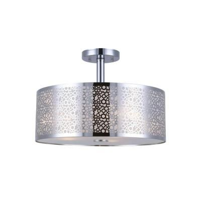 Canarm Piera 3 Light Chrome Semi Flush Mount With Glass Diffuser Isf543a03ch The Flush Mount Ceiling Light Fixtures Glass Diffuser Flush Mount Ceiling Lights
