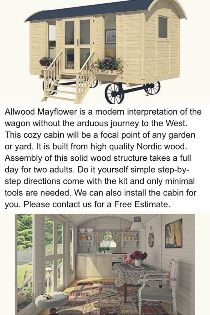 Allwood Mayflower 117 Sqf Garden House Kit Cabin 400 x 300