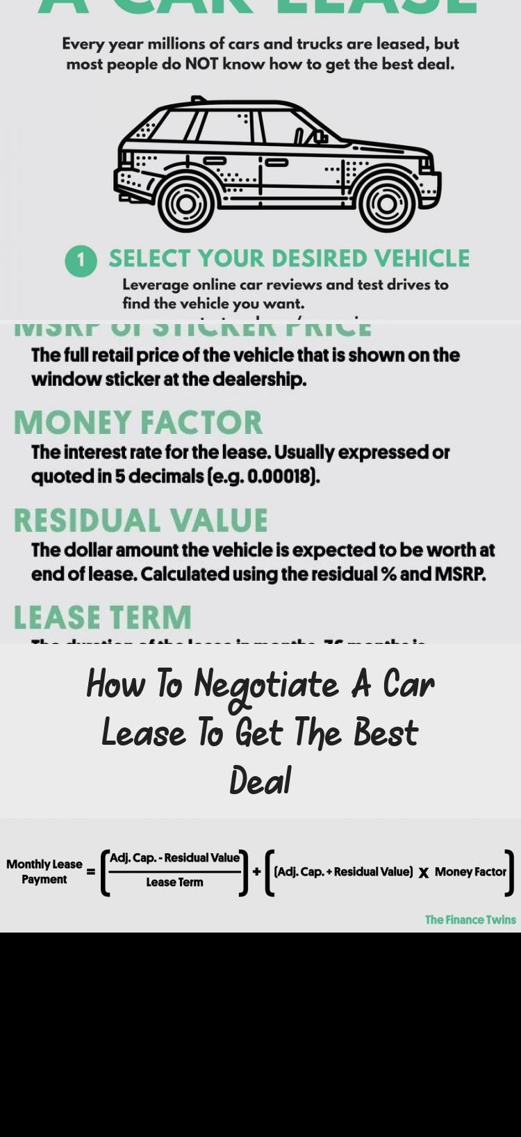How To Negotiate A Car Lease To Get The Best Deal Car In 2020 Car Lease Best Cars On Gas Lease