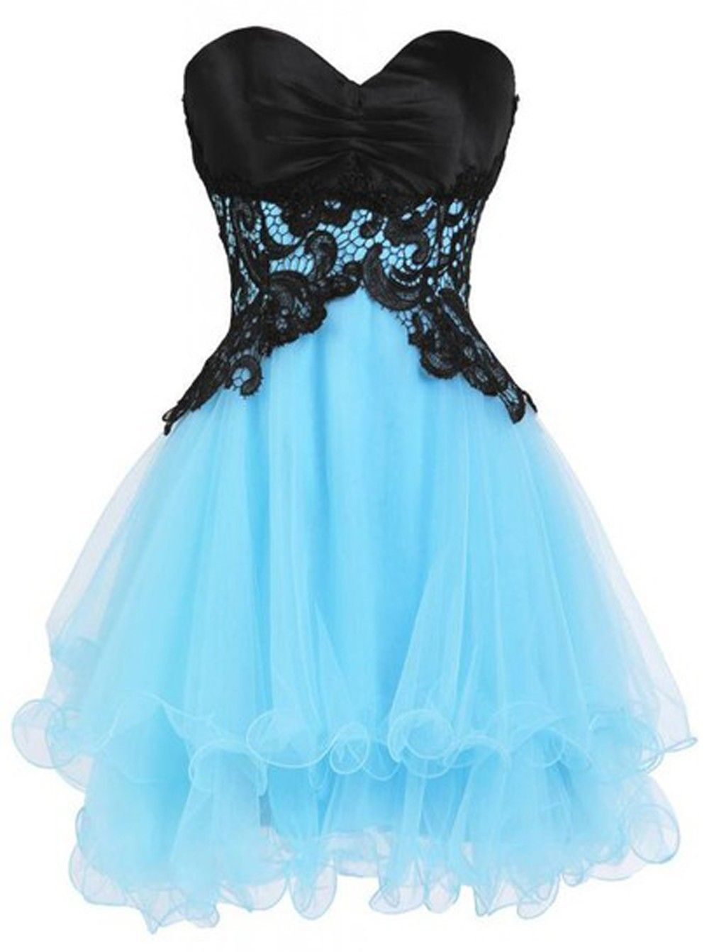 Fabulous aboveknee sweetheart homecoming dress with appliques