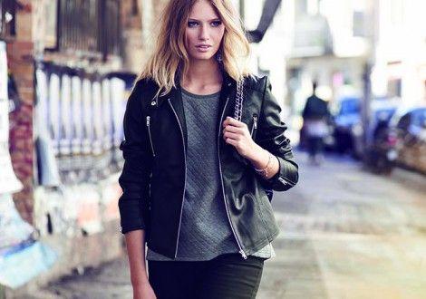 2017 A/W Mens Zip Front Faux Leather Biker Jacket Black