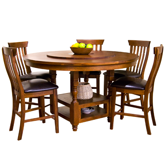Images Of Sunny Designs 1282wc Timber Creek 60 Round Table With Lazy Susan In Weathered Cherry Round Dining Room Sets Dining Table Small Dining Table 60 inch round dining table seats how many