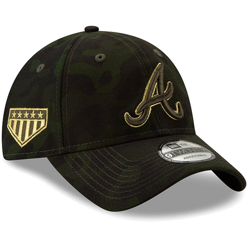 Atlanta Braves New Era 2019 Mlb Armed Forces Day 9twenty Adjustable Hat Camo Green Hats For Men Chicago White Sox Atlanta Braves Logo