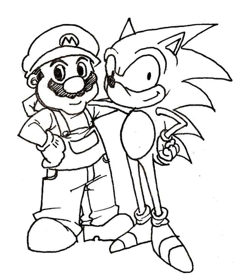 Sonic And Mario Coloring Pages To Print Mario Coloring Pages Cartoon Coloring Pages Super Mario Coloring Pages