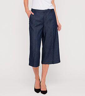 Jeans Culotte In Der Farbe Dunkelblau Bei C A Look