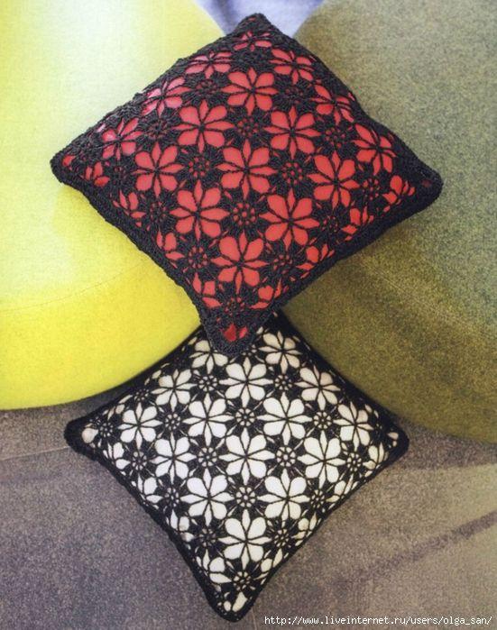 Delicadezas en crochet Gabriela: Patrones de cojines y mantas ...