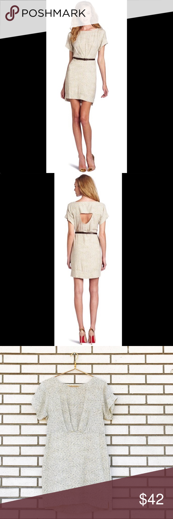 Bcbgeneration cut out dress in buttercream bcbgeneration dresses