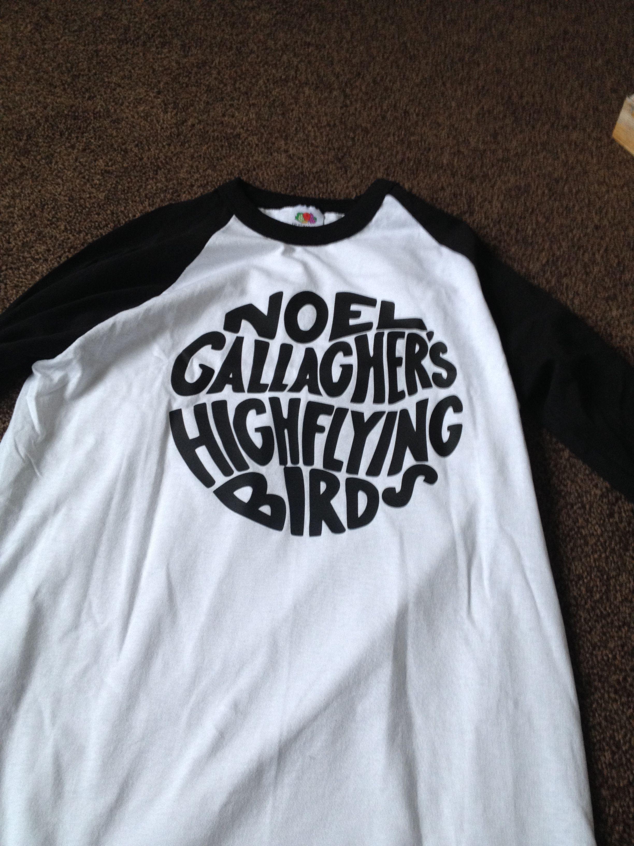Noel Gallagher's high flying birds t shirts !!!