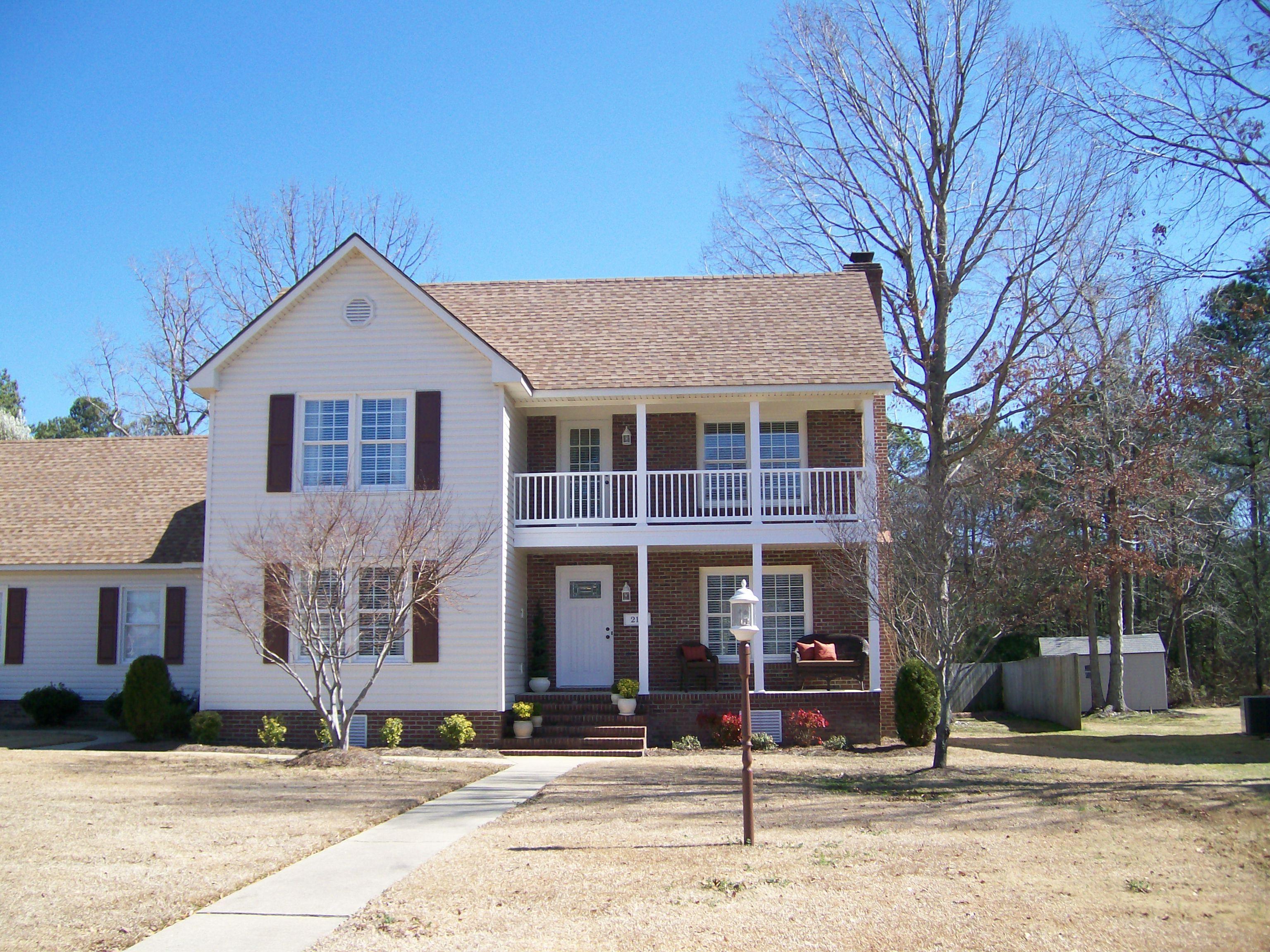 Double decker porches in Goldsboro, NC