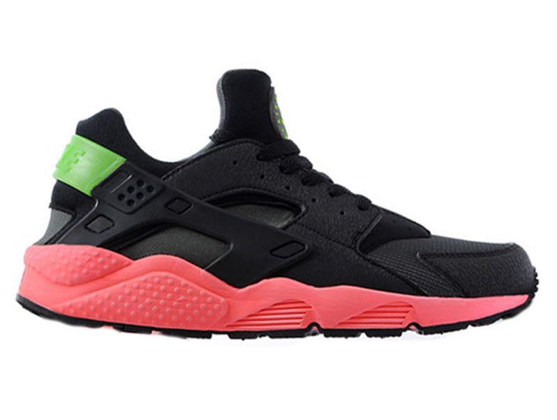 b5190f4c20d Nike Air Huarache GS Chaussures Pour Femme Rose Noir 318429-006 nikesite9527