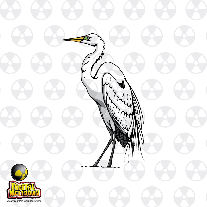 Louisiana Vector Clipart White Egret Clipart Bird
