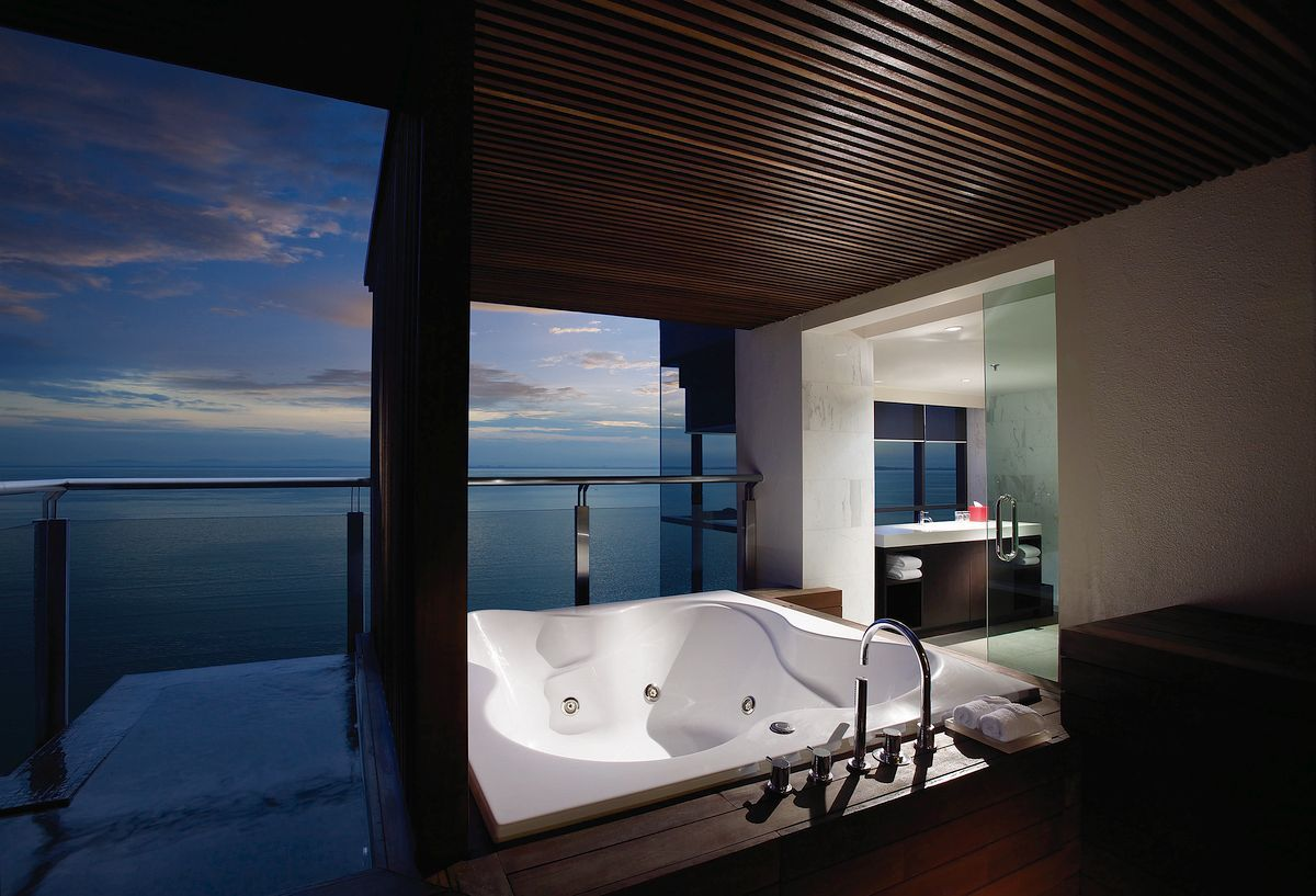 G Hotel Gurney - Malaysia Overlooking the lively... | Hot tubs, Tubs ...