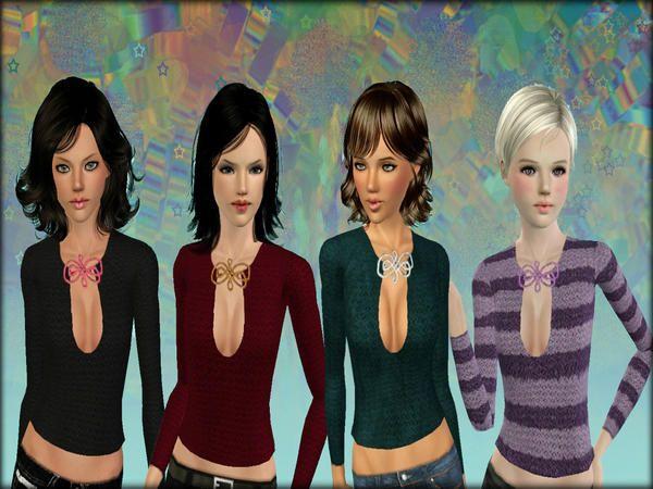 Precious Sims' Pendant Sweater