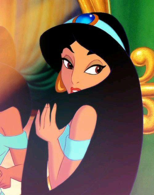 Jasmine With Her Hair Down Disney Princess Jasmine Disney