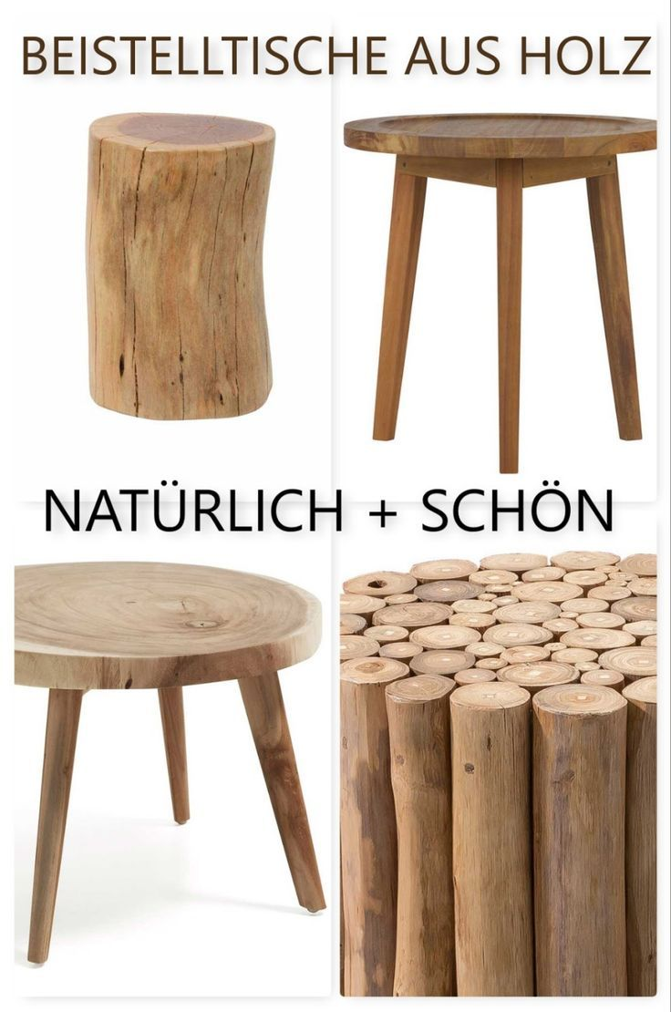 Beistelltisch aus Massivholz Beistelltisch, Tisch, Holz