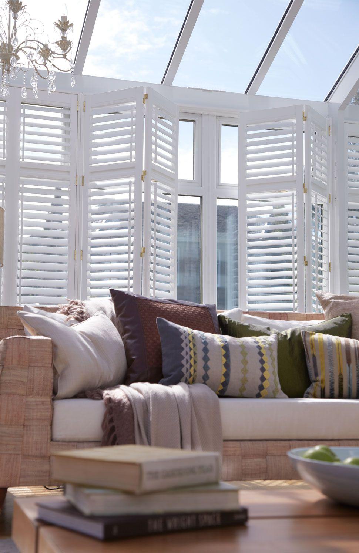 lifetime conservatory shutters thomas sanderson. Black Bedroom Furniture Sets. Home Design Ideas