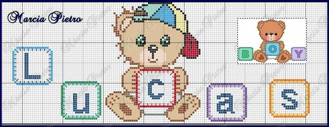 Pin von Fabiana Martins auf Cross Stitch Names/ Nomes ponto cruz ...