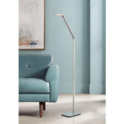 Possini Euro Bentley Aluminum Led Task Floor Lamp 7h310 Lamps Plus Task Floor Lamp Floor Lamp Contemporary Floor Lamps